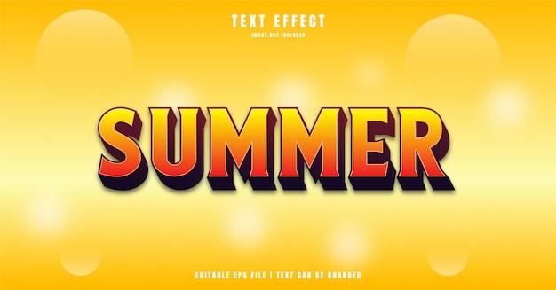 Efecto de texto 3d de verano