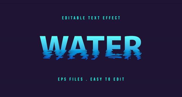 Efecto de texto de agua, texto editable