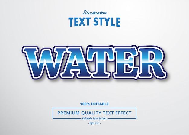 Efecto de texto de agua