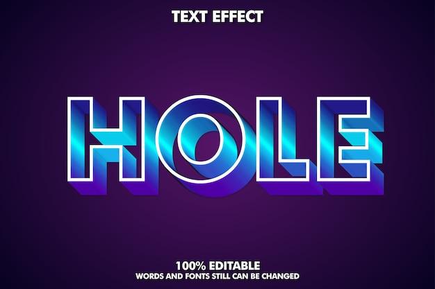 Efecto de texto de agujero editable