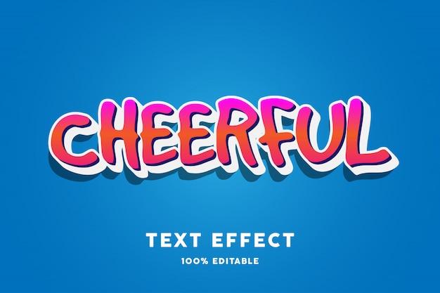 Efecto de texto alegre degradado rojo