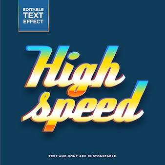 Efecto de texto de alta velocidad