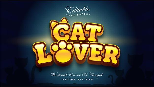 Efecto de texto de amante de los gatos