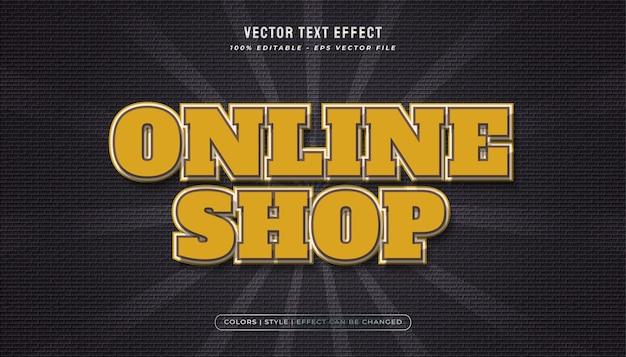 Efecto de texto amarillo llamativo en estilo vintage