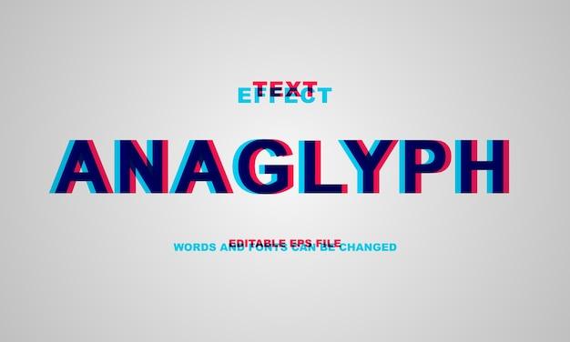 Efecto de texto anaglífico