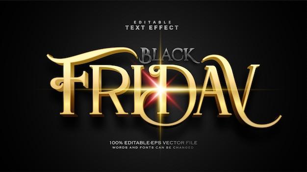 Efecto de texto antiguo viernes negro