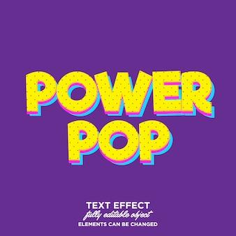 Efecto de texto de arte pop de dibujos animados modernos para algún producto o título