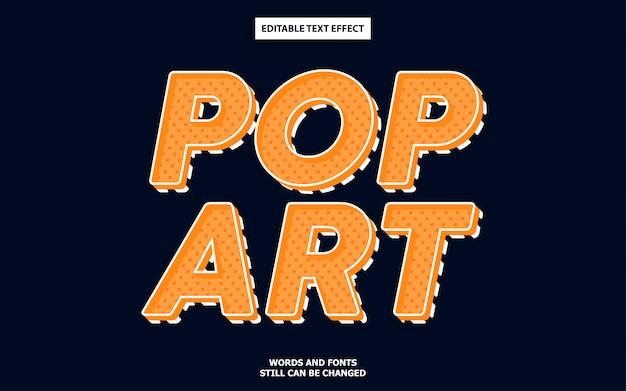 Efecto de texto del arte pop