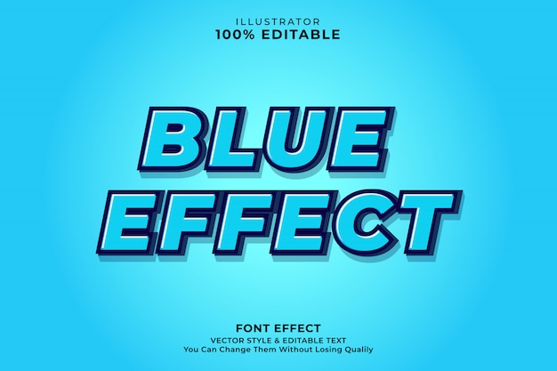 Efecto de texto azul