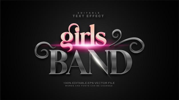 Efecto de texto de banda de chicas