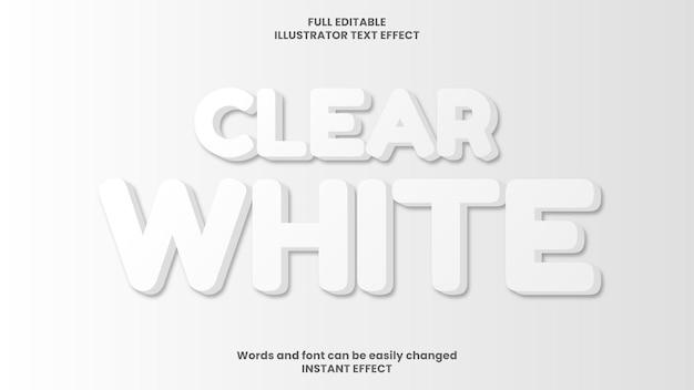 Efecto de texto blanco claro