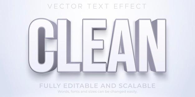 Efecto de texto blanco limpio editable estilo elegante simple
