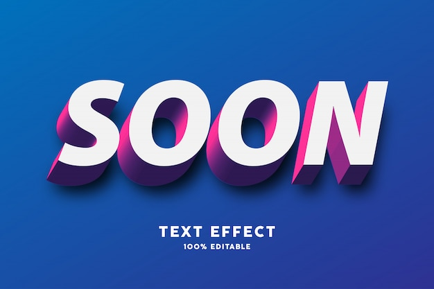 Efecto de texto blanco rojo púrpura 3d