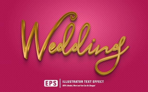 Efecto de texto de boda - editable