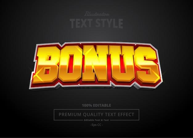 Efecto de texto bonus illustrator