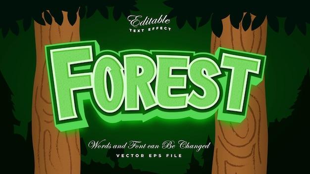 Efecto de texto de bosque