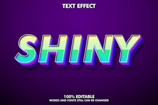 Efecto de texto brillante en 3d para un diseño moderno