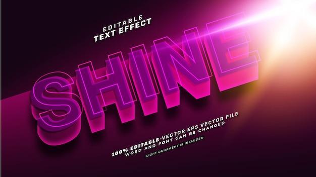 Efecto de texto brillante editable