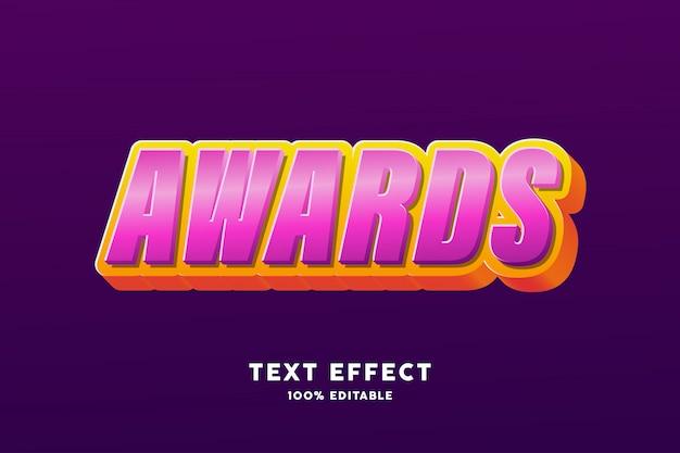 Efecto de texto brillante púrpura