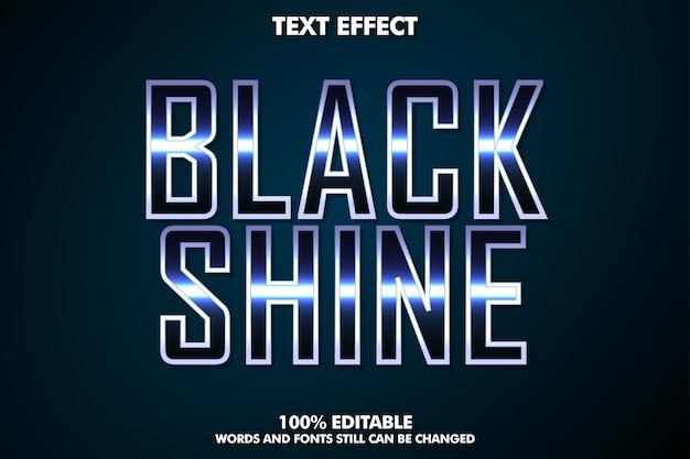 Efecto de texto con brillo negro, estilo de texto cinematográfico