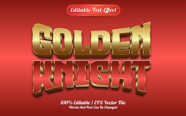 Efecto de texto caballero dorado