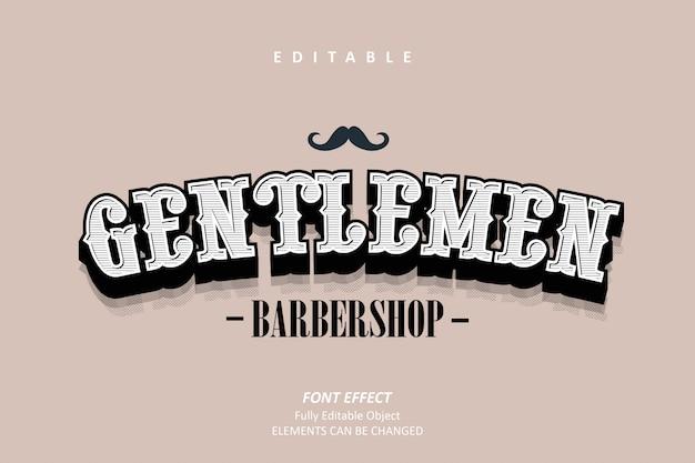 Efecto de texto de caballeros de la barbería