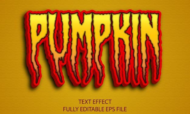 Efecto de texto de calabaza de halloween