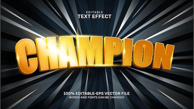 Efecto de texto de campeón