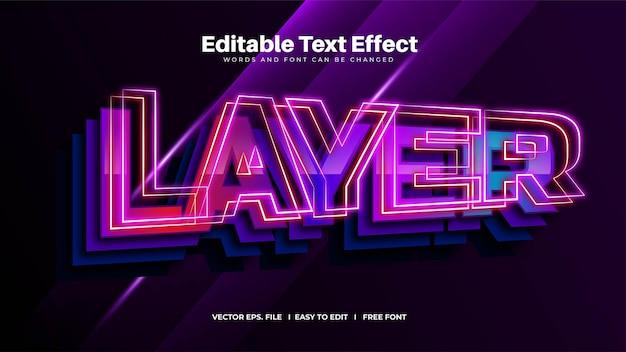 Efecto de texto de capa brillante