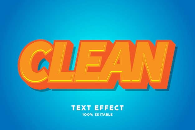 Efecto de texto de caramelo de naranja