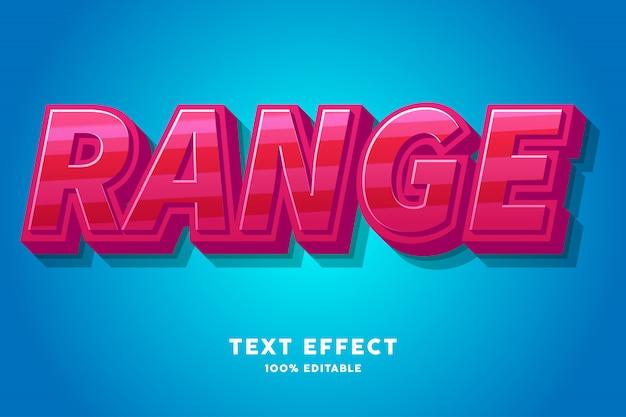 Efecto de texto de caramelo rojo fresco