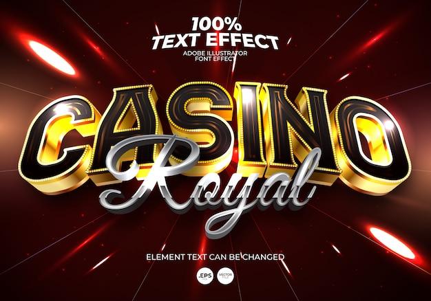 Efecto de texto casino royal