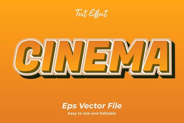 Efecto de texto cine editable y fácil de usar vector premium