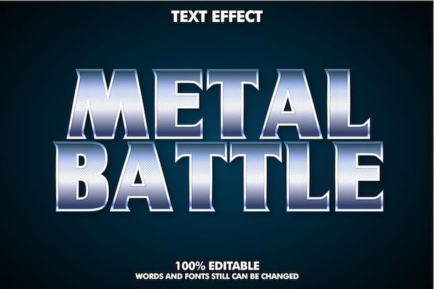 Efecto de texto cinematográfico para título de película, efecto de texto metálico