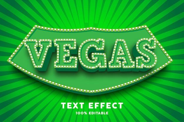 Efecto de texto de circo verde 3d