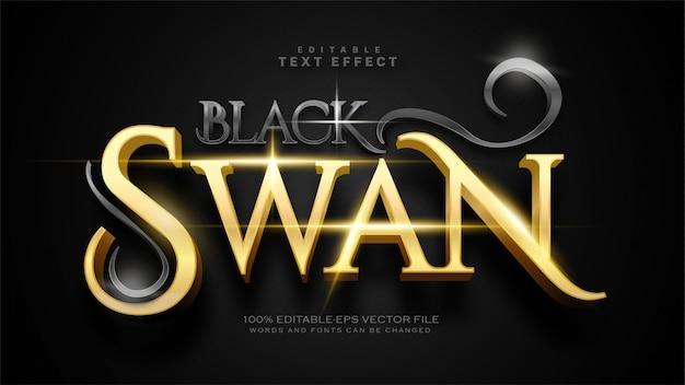 Efecto de texto de cisne negro