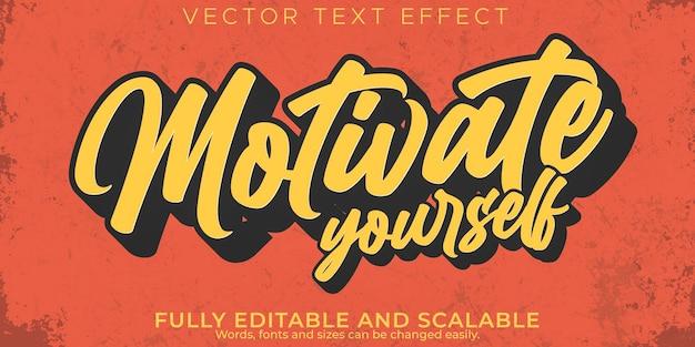 Efecto de texto de cita, motivación editable y estilo de texto de inspiración