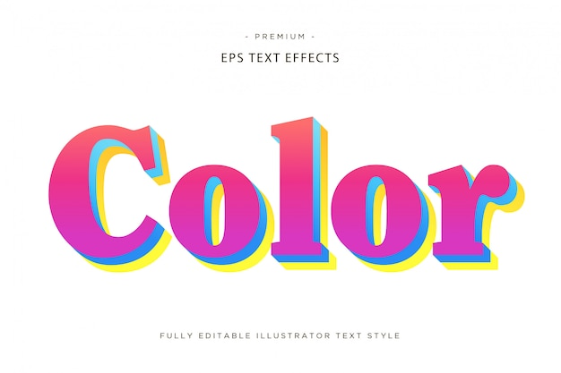 Efecto de texto en color 3d