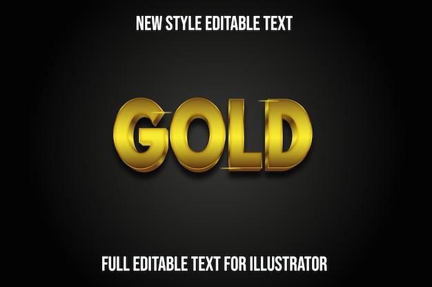 Efecto de texto color dorado degradado dorado