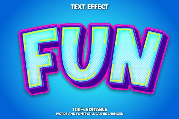 Efecto de texto colorido divertido