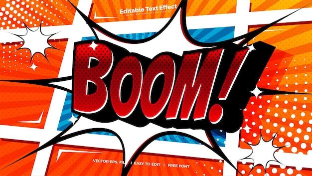 Efecto de texto comic boom