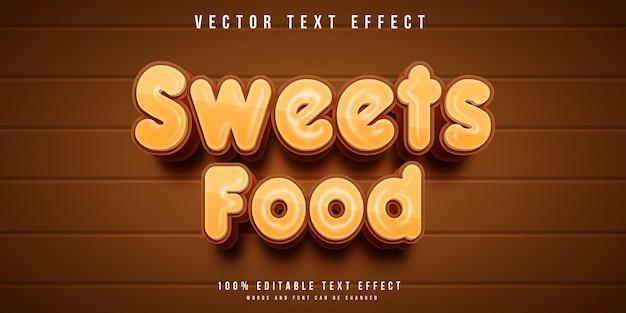 Efecto de texto de comida dulce