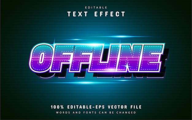 Efecto de texto sin conexión