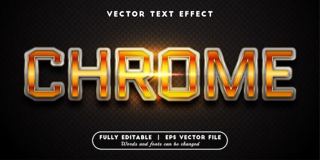 Efecto de texto cromado con estilo de texto editable