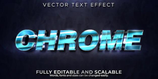 Efecto de texto cromado