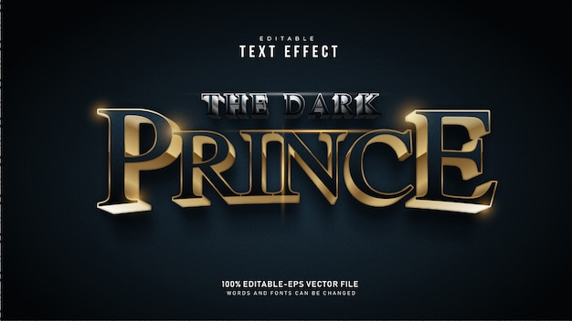 Efecto de texto dark prince