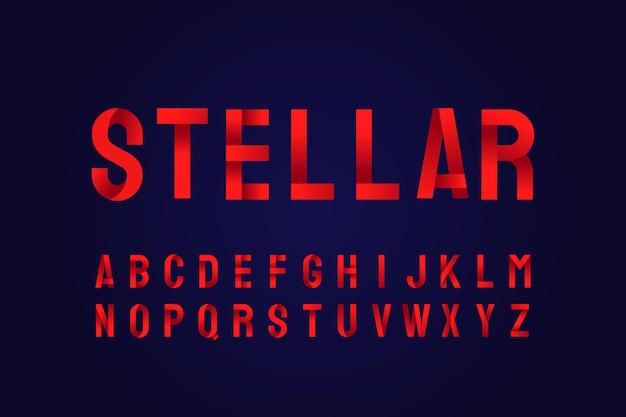 Efecto de texto degradado estelar