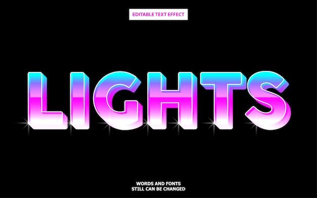 Efecto de texto degradado de luces