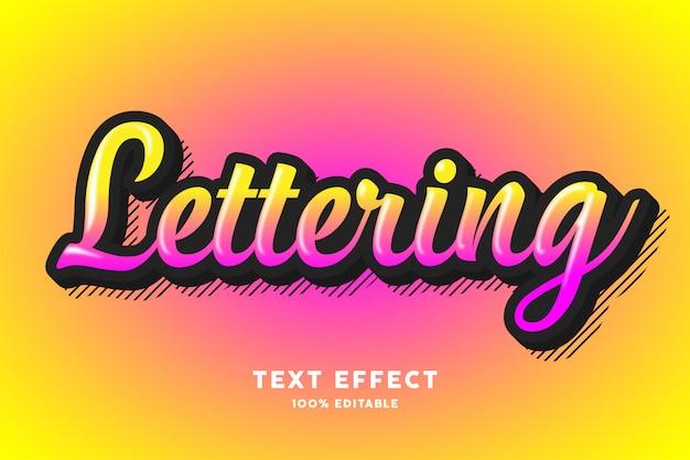 Efecto de texto degradado rosa amarillo