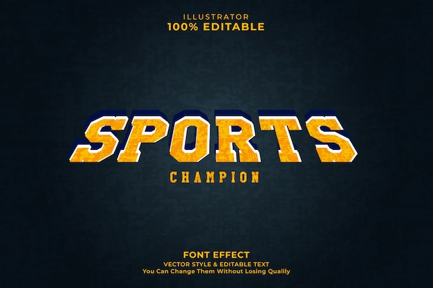 Efecto de texto del deporte